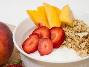 Kefir fruit and grain Breakfast